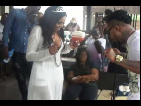 Oritse Femi Throws Memorable Beach-house Birthday Party For Wife, Nabila