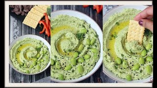 Avocado Edamame Hummus | Healthy and vegan edamame hummus recipe