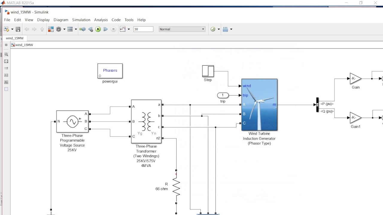 1 5 MW Phasor Induction type Wind Turbine modeling in MATLAB/Simulink