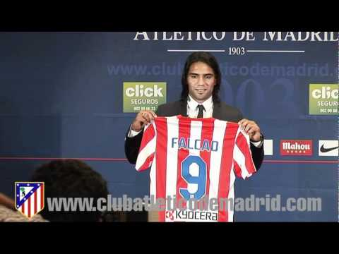 Presentación de Radamel Falcao como jugador del Atlético de Madrid