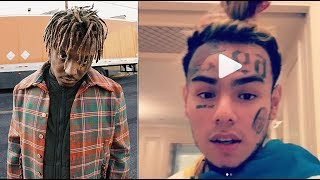 6ix9ine Warns Juice Wrld 'Don't Diss Me.. I'll find your Ex that broke your heart and Pipe her out'