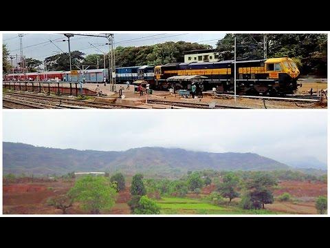 Journey highlights Panvel to Karjat : Overtaking offlink Rajdhani & chugging through mountains.