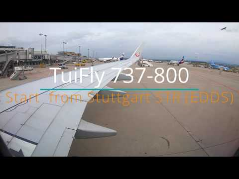 Takeoff From Stuttgart Airport ( STR ) TuiFly B737-800 Cloudy 09.2019 #4K