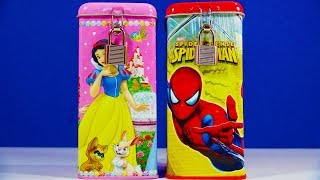 Disney Princess Spider-Man Coin Bank Frozen Capsule Filly Princess Whisker Haven Tales Palace Pets