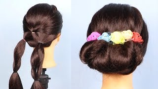 Easy & Quick Twisted Hairstyles for party / hairstyles for girls /  hairstyles for medium hair