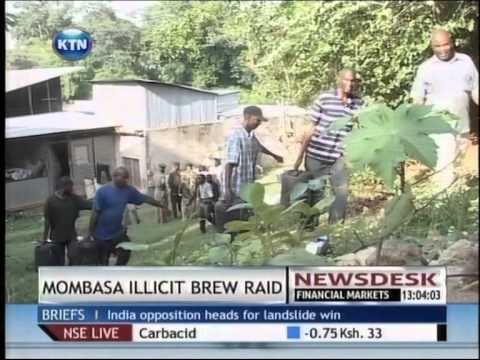 Police in Mombasa have raided a brewery claimed to be behind the production of illicit brew