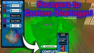 Recuperacion del Custom Sharingan!   Roblox: NRPG: Beyond