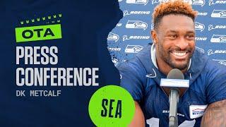 DK Metcalf 2021 Seahawks OTAs Press Conference