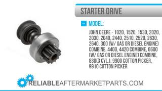 1243 AR54923 John Deere Starter Drive 1020 1520 1530 2020 +
