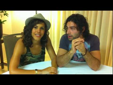 Hello from Being Human's Aidan Turner and Lenora Crichlow