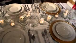 Entertaining 101:  Simply Elegant Table Setting