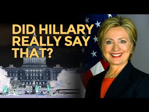 Did Hillary Clinton Really Say That? Mike Maloney