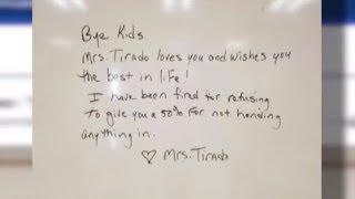 Teacher Fired After Giving A Student A Zero For Not Handing In Their Homework