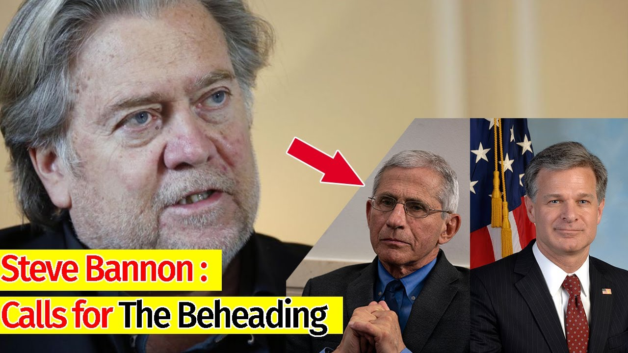 Steve Bannon banned by Twitter for Fauci and Wray decapitation ...