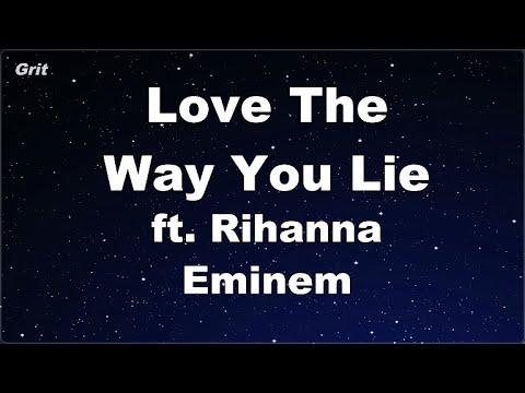 Karaoke♬ Love The Way You Lie ft. Rihanna - Eminem 【No Guide Melody】 Instrumental