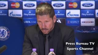 Diego Simeone reaction Chelsea vs Athletico Madrid