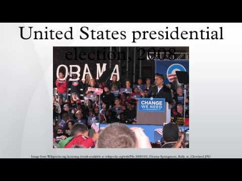 United States presidential election, 2008