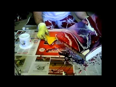 Fluid acrylic painting techniques youtube for How to make fluid acrylic paint