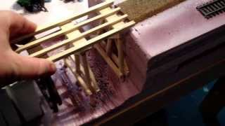 Ho Scale Scratch Built Trestle Bridge
