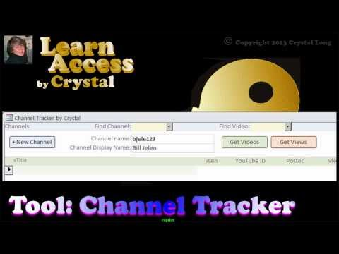 Tool: Channel Tracker, free Access database. Music by Jubal Lee Young (cc)
