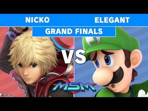 MSM 180 - Nicko (Shulk) vs Elegant (Luigi) Grand Finals - Smash Ultimate thumbnail