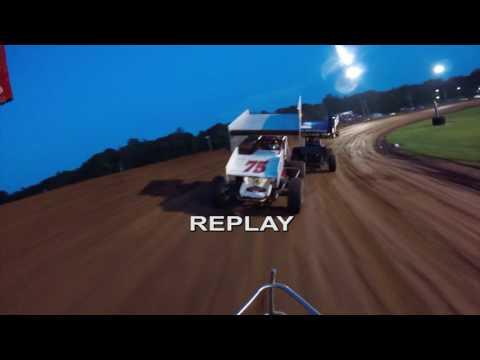 Bloomington Speedway Indiana RaceSaver Sprint Car Series Perrott45 Racing 8/19/2016