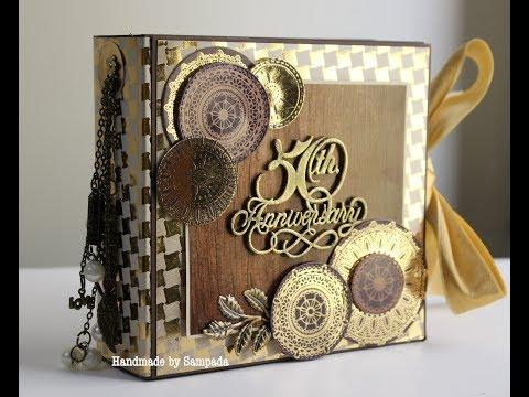Golden Love Album using DCWV Espresso Collection | by Sampada Srivastava