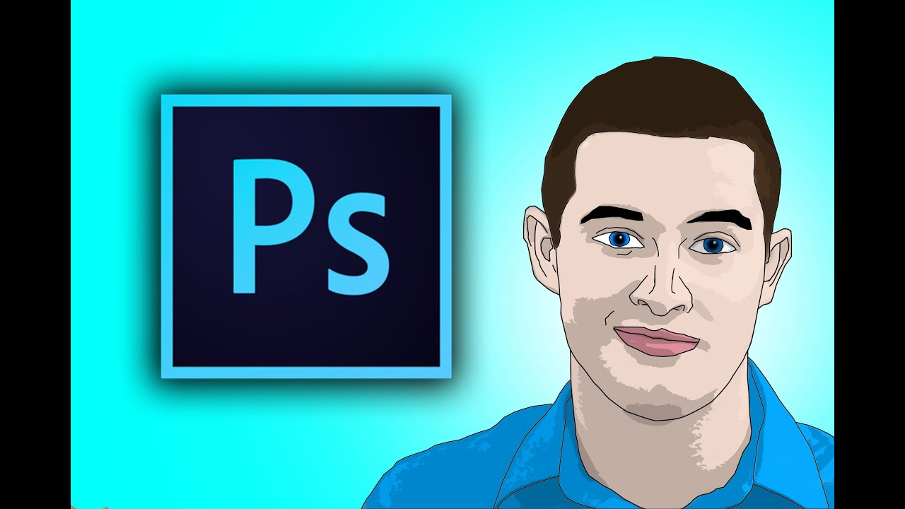 How To Cartoon Yourself In Photoshop Cc Youtube