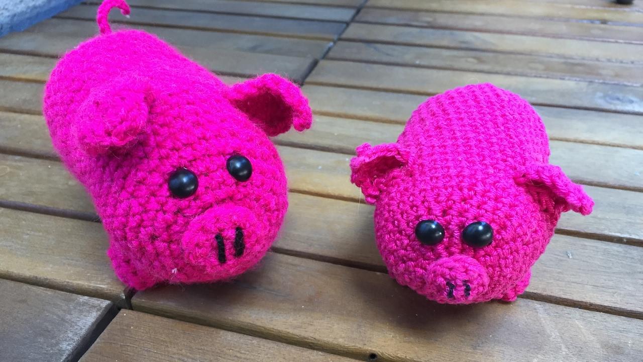 Amigurumi Schwein \'\'\'Mister PORKY\'\' ( PIG ENG SUB) - YouTube