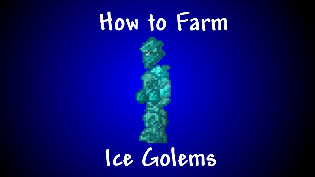 Terraria 1.2 - How to Farm Ice Golems - YouTube