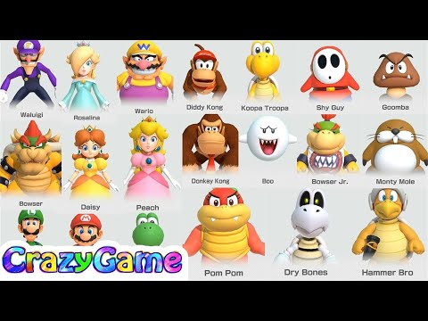 Super Mario Party All Characters - Win Celebrations | CRAZYGAMINGHUB