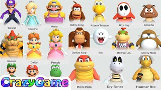 Super Mario Party All Characters - Win Celebrations   CRAZYGAMINGHUB