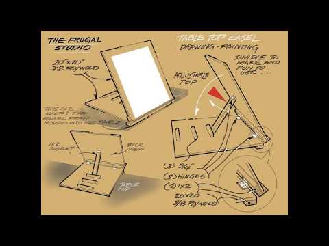 Make Your Own Table Top Easel From The Frugal Studio