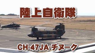 2017.03.19 八丈島空港にて撮影。陸上自衛隊の大型輸送ヘリコプターCH-4...