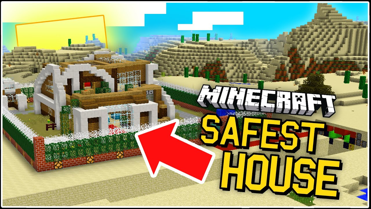 THE SAFEST HOUSE IN MINECRAFT Different Security Mechanisms - Map para minecraft 1 11 2
