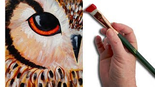All Seeing Owl Painting Lesson Step by step beginner Halloween Hart Party Art Tutorial