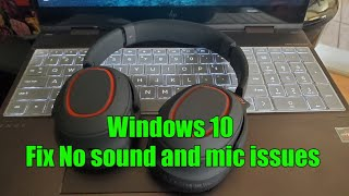 How to connect Bluetooth Headphones / Speakers to Windows 10 PC laptop and Fix No Audio Sound