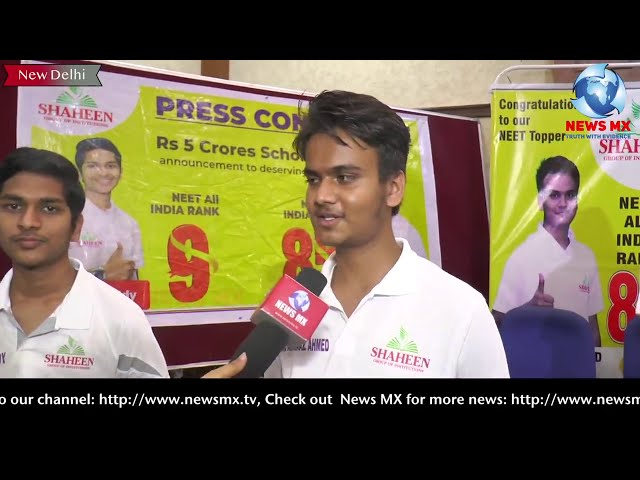 NEET-2020 toppers Karthik Reddy (AIR 9) & Arbaaz Ahmed (AIR 85) interview with @News Mx Tv