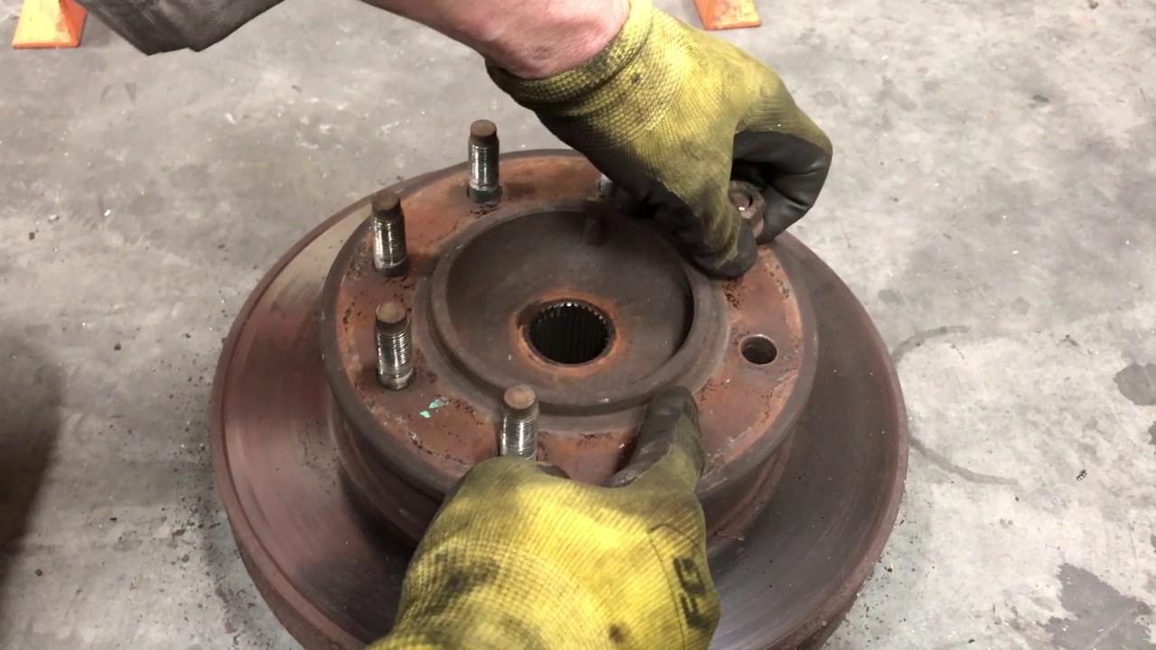 Dodge Ram Cummins >> How to Change Brake Pads, Rotor & Wheel Bearings on a 1996 ...