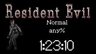 Resident Evil HD Remaster (PC 60FPS) Speedrun - Jill Normal any% - 1:23:10