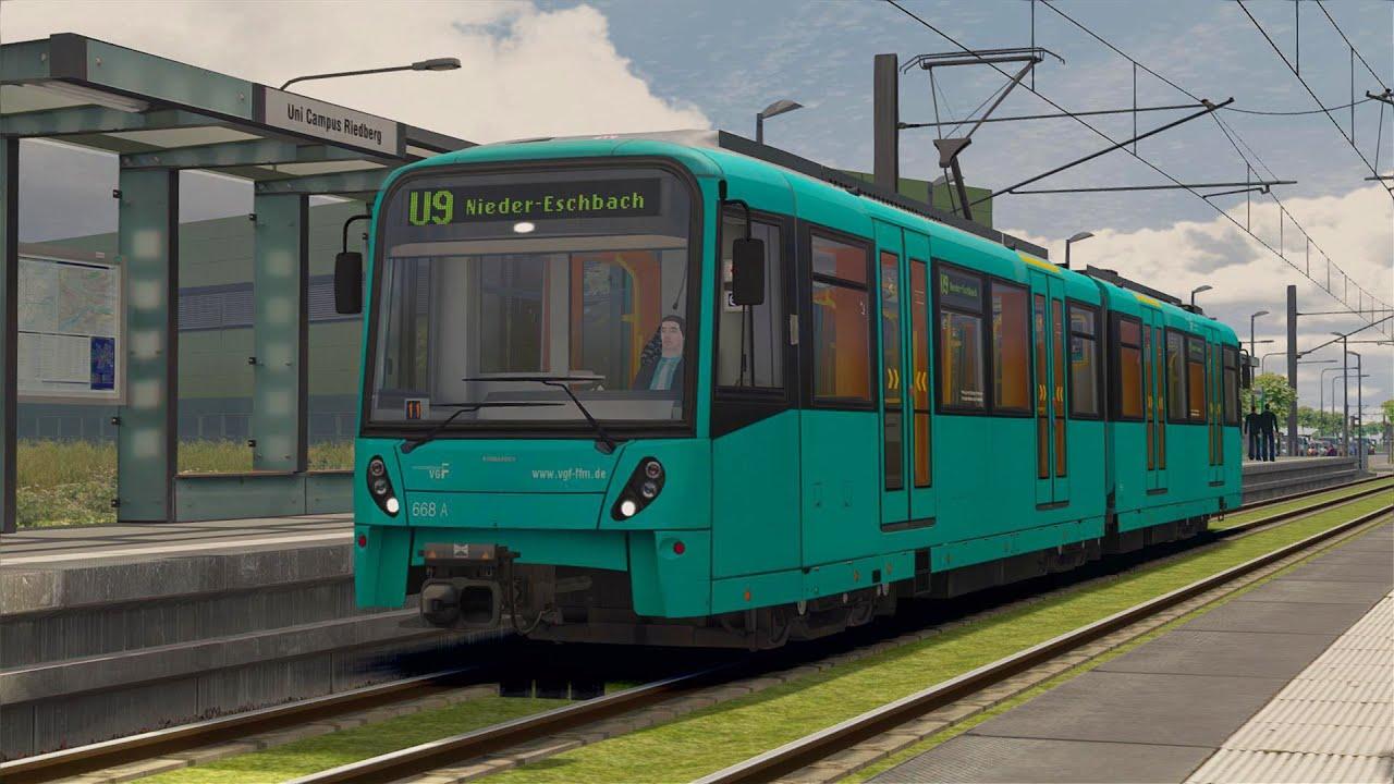 let s test train simulator 2015 u9 nach nieder eschbach frankfurter u bahn youtube. Black Bedroom Furniture Sets. Home Design Ideas