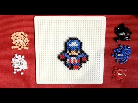 Perler Bead Tutorial Mini Avengers Captain America YouTube Interesting Mini Perler Bead Patterns