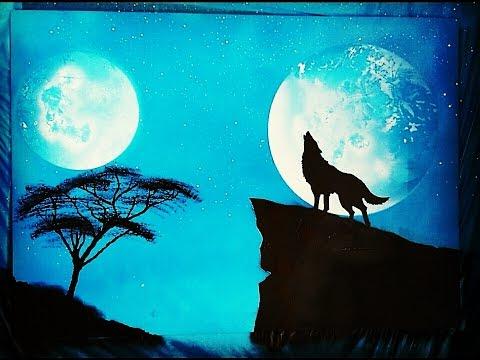 Spray Art Turkey - Sprey Boya Sanatı (howling Wolf) 2016