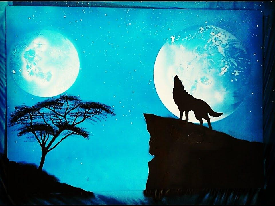 Spray Art Turkey Sprey Boya Sanati Howling Wolf 2016 Youtube