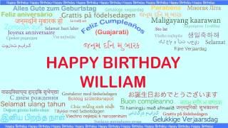William   Languages Idiomas - Happy Birthday