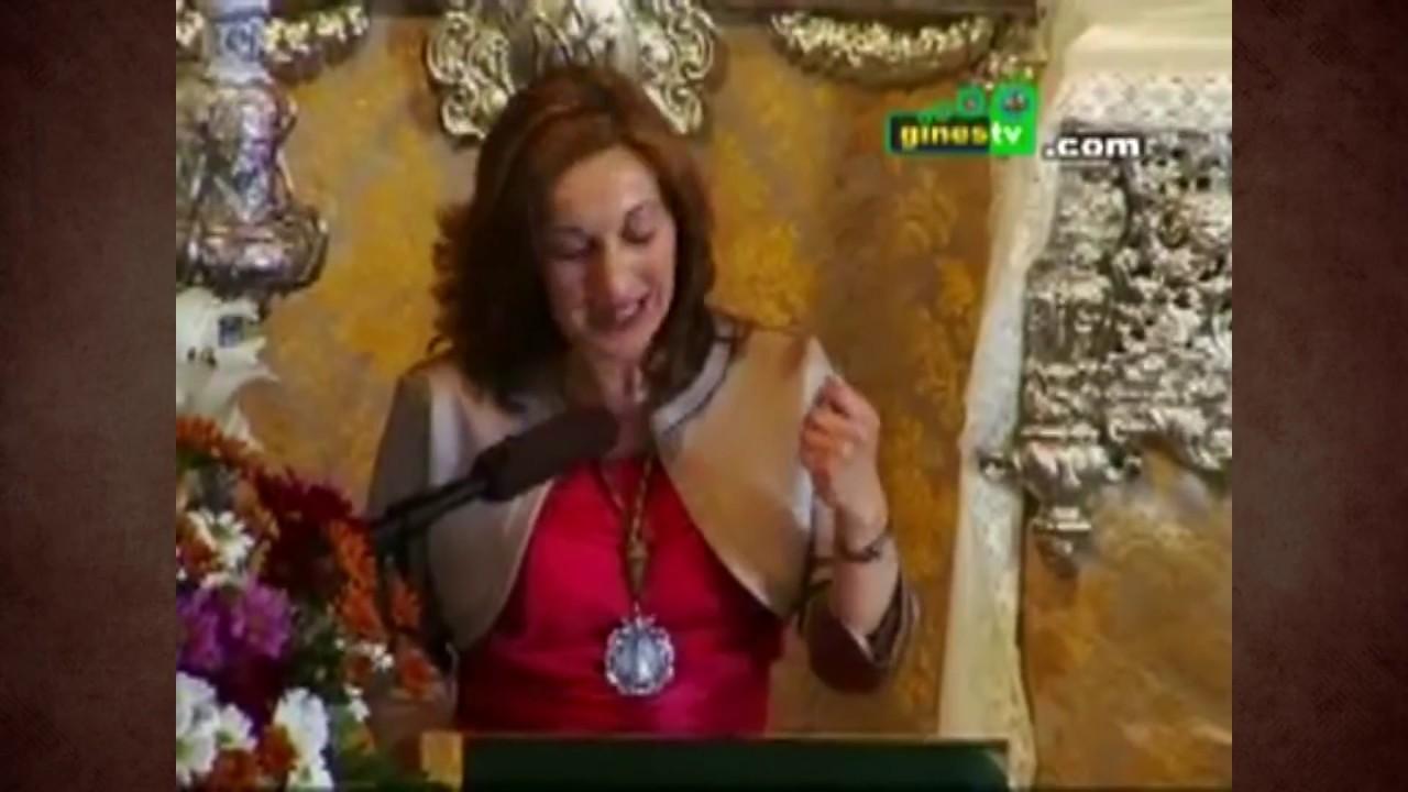 Rocío Mateos pronuncia el domingo la XXXVI Exaltación de la Semana Santa de Gines