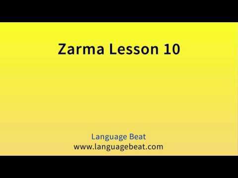 Learn Zarma   :  Lesson 10  -  Zarma  Phrases for Beginners
