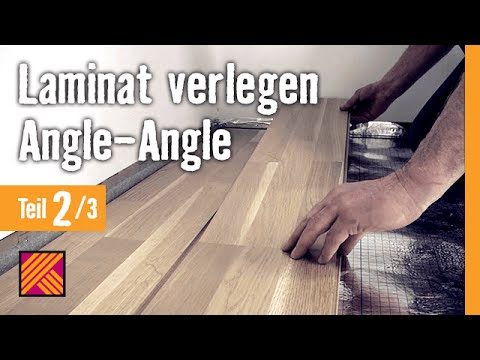 laminat verlegen angle angle kapitel 2 dielen verlegen youtube. Black Bedroom Furniture Sets. Home Design Ideas
