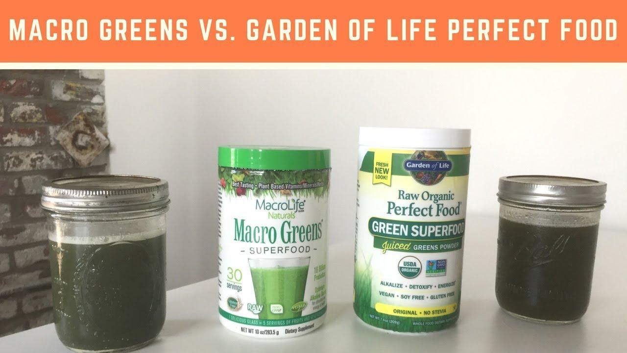 macro greens vs garden of life perfect food raw - Garden Of Life Perfect Food