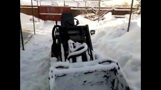 функциональный трактор-погрузчик (испытания гидравлики на морозе)